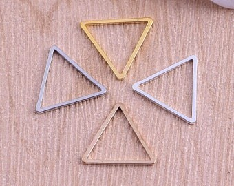 Nickel Free -  High Quality Triangle Brass Lovely Charm / Pendant -- PA251