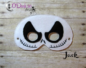 Jack Skellington Inspired Childrens Dress Up Mask