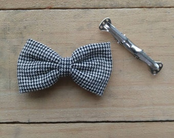Black&White Houndstooth Bow Tie