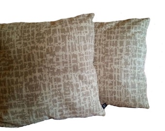Two (2) Very Soft Pollack Dapper Wool Birch Bark  Pillow Covers (B3)