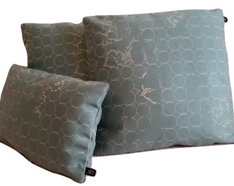 Three (3) Maharam Vineyard Cay Blue 466133–003 Pillow Covers (B1)