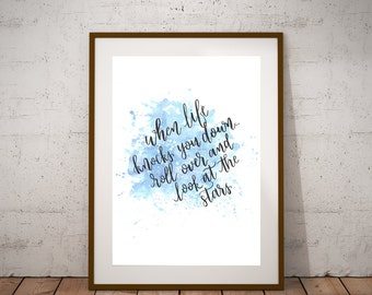 MS150 Donation Print - When Life Knocks You Down, Look At The Stars