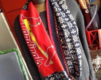 Handmade eco fashion  St.Louis Cardinals Scarf free domestic shipping
