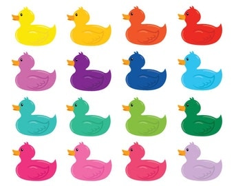Rubber Duck Clip Art Set | Kid Childrens Toy Fun Playtime Bath Graphic | Digital Illustration Stock Icons | Personal or Commercial Use