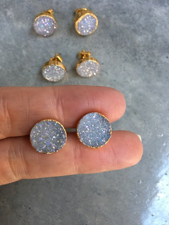 Druzy Earrings, bridesmaids jewelry, wedding jewelry, boho jewelry, Druzy jewelry