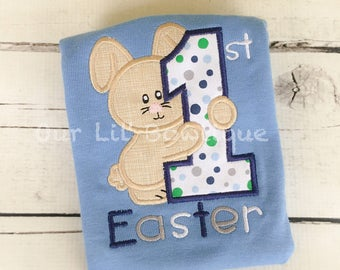 My 1st Easter Applique Shirt - Easter  - Boy - Toddler - Infant - Baby - Personalized Easter T- Shirt - My 1st Easter Shirt