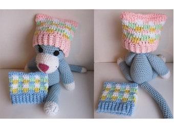 Crochet Newborn Pastel Cat Ear Hat / Cat Ear Hat for babies / Baby Cat Ear Hat  / Baby Kitty Hat / Newborn Cat Ear Hat Baby Boy or Baby Girl