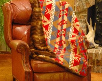 Woodland Beaver Blanket - Medium/Full 5'x4'