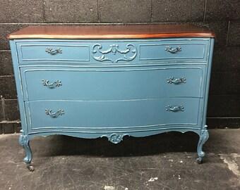 Vintage Teal Dresser