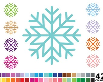 70% OFF SALE Rainbow Snowflakes Clipart - Digital Vector Colorful Snowflake, Winter, Snow Clip Art