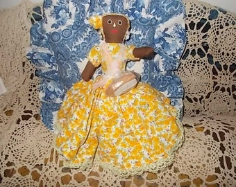 Topsy Turvey Doll, Primitive, Rag Doll, Topsy Turvy, Doll, Toys, Vintage Toys, Primitive Doll, Could Use for Movie Prop, :)s*