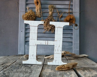 "7,4"" Wooden letter distressed  Wall decor"