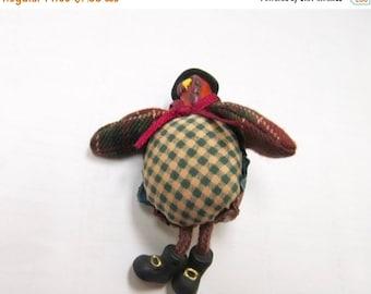 On Sale Hand Made Stuffed Thanksgiving Turkey Pin Item K # 1199