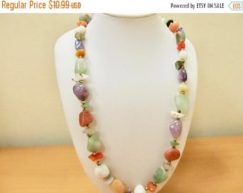 On Sale Vintage Genuine Stone Necklace Item K # 712