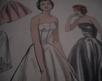 Vintage 1950's Butterick 6752 Slips, Half Slip and Petticoat Sewing Pattern, Size 14 Bust 32