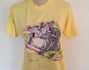"Vintage Koala Bear ""Love Is"" Tshirt"