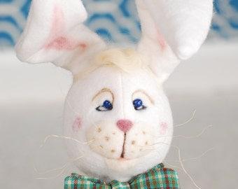 Wool Rabbit, Whimsical Wool Rabbit, Wool Bunny, OOAK Rabbit, OOAK Bunny