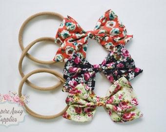 DIY Nylon Headband Kit, Sailor Bows Nylon headbands, baby shower headband kit, DIY baby headbands, headband station, baby headband supplies