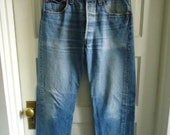 "Vintage 80s LEVIS 501 Buttonfly Jeans Made in USA sz 32""waist X 30"" length"