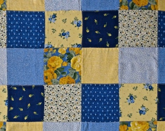 "Vintage Patchwork pieced fabric 2 yards long by 44"" wide"