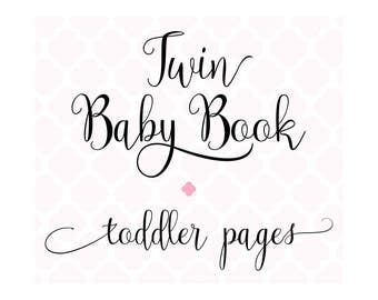 Set of 56 Toddler Pages for Charmbooks TWIN Baby Memory Books