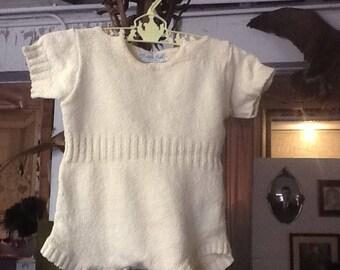 Vintage Golden Gate of California Child's Cotton Knit Romper