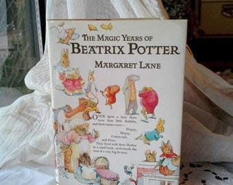 Beatrix Potter,The Magic Years by Margaret Lane, Vintage children'sbook, Illustrated Biographical background hardcover book
