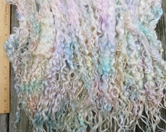 Wensleydale Locks, Extra Long, Dyed, Tailspinning, 1 ounce, Doll Hair, Spin, Felt, Fleece, Baby Clouds