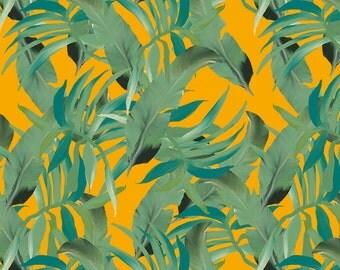 Palm Paradise Gold Dollhouse Wallpaper Digital Download