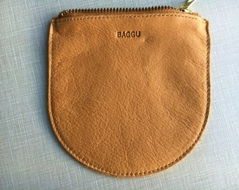 Baggu Small Leather Pouch Clutch