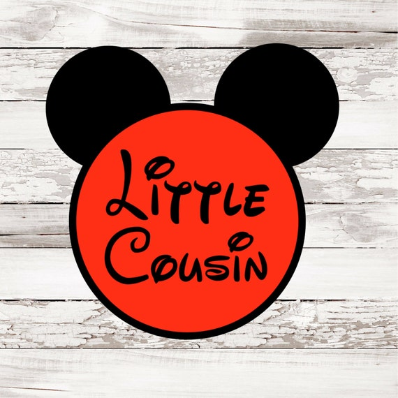 INSTANT DOWNLOAD Disney Little Boy Micky Cousin Printable DIY Iron On to Tee T-Shirt Transfer - Digital File