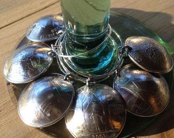 New England Wine Glass Charms
