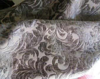 3 yards of heavy upholstry fabric in a beautiful dark taupe