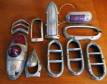 PRICE REDUCED! Vintage Automobile/Car Light Chrome Accessories