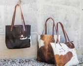 Cowhide Leather Tote | Leather Tote | Leather Bag | Cowhide Bag | Cowhide Tote