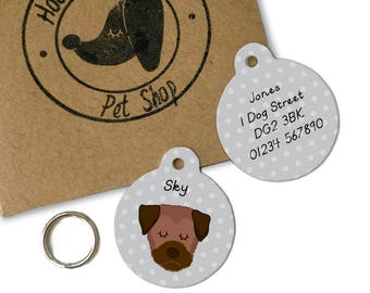 Border Terrier Dog ID Name Tag