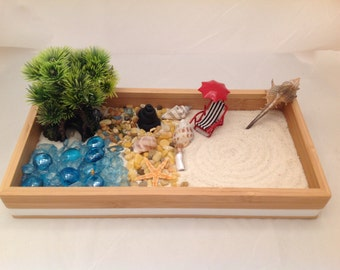 Tabletop zen garden etsy for Table zen garden