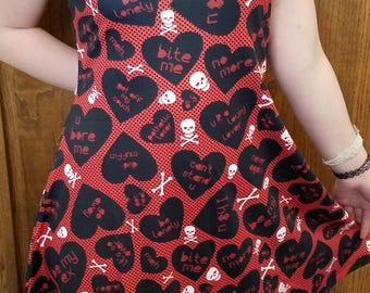 "READY-TO-SHIP Anti-Valentine ""Be My Ex"" Dress (L)"