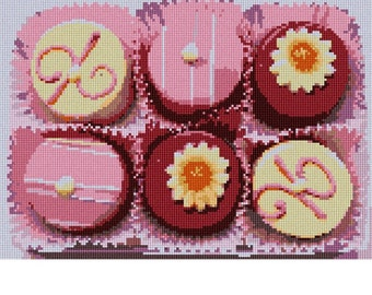 Needlepoint Kit or Canvas: Petit Fours
