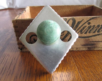 Primitive Diamond Cookie Cutter with Green Wood Handle