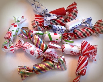 12 Fake Candy Christmas Candy Bowl Filler Wine Cork Ornament Decorations Table Scatter