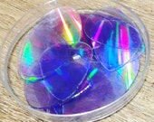 CD Pick- 5 pack-recycled CDS-ukulele Accessories-guitar Accessories- cd guitar pick-rainbow pick-reflective pick- clear pick, awesome gifts