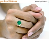 CYBER MONDAY SALE -  round gemstone ring,gold prong ring,custom stone ring,green onyx ring,vintage stack ring