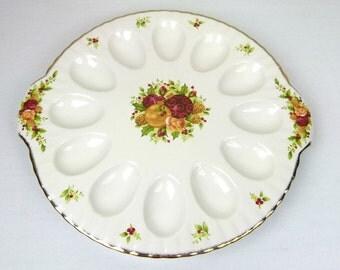 Royal Albert, Fine Bone China, (Old Country Roses Holiday) Deviled Egg Tray