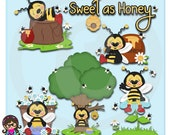 2017 Bibi Loves Honey Clip art  Clipart Graphics  Commercial Use