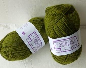 Yarn Sale  - Olive Green Lamb's Pride Superwash Sport by Brown Sheep Company