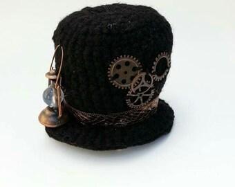 Steampunk top hat hairclip