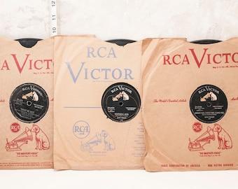 3 Elvis Presley 78 rpm hits. Jailhouse rock, Heartbreak hotel, I want you I need you