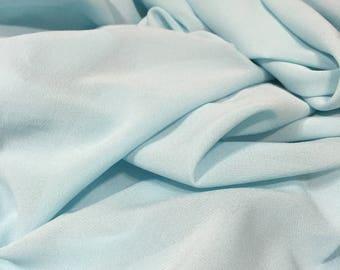 Turquoise Fabric, Stretch Crepe Silk Chiffon,Silk Chiffon, Blue Chiffon, Chiffon, Crepe Silk Chiffon, Blue Green Chiffon, See Through Fabric