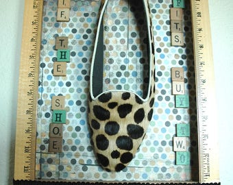 "SALE - Whimsical Wall Assemblage - ""If the Shoe Fits, Buy Two!"""